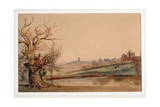 Ludlow from the Teme, C.1838 Giclee Print by Peter De Wint