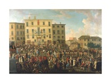 Festival in the Garden of the Palazzo Rospigliosi Giclee Print by Giovanni Reder
