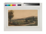 Atcham Church, Near Shrewsbury, C.1841-42 Giclee Print by Peter De Wint