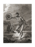 A Tattooed Dancer in Traditional Costume, Hawaii, 1778 Giclee Print by John Webber