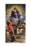 The Immaculate Conception with St John and St Augustine Giclee Print by Carlo Maratta or Maratti