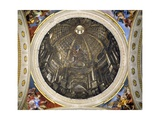 Dome of the Church of St Ignatius, 1685 Giclée-tryk af Andrea Pozzo