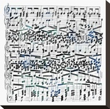 Music Sheet I Stretched Canvas Print