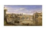Ponte Sisto, Rome Giclee Print by Gaspar van Wittel