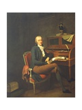 Portrait of a Seated Man at a Desk Giclee Print by Louis Leopold Boilly