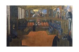 The Doge of Venice Visits the Holy See Giclee Print by  Palma Il Giovane