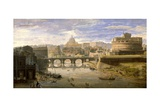 Ponte Sant'Angelo, Rome Giclee Print by Gaspar van Wittel