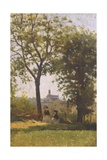 Mountains of the Cross Impression giclée par Silvestro Lega