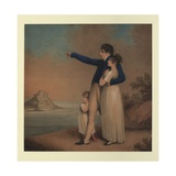 Robert Southey and His Daughter[S], 1824 Giclee Print by Adam Buck