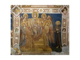 Madonna and Child Enthroned with Angels and St Francis of Assisi Giclée-tryk af Giovanni Cimabue