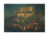 Feast of Mozzatore in the Garden of Palazzo Rospigliosi in 1740, C.1740 Giclee Print by Giovanni Reder
