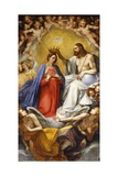 Coronation of the Virgin Giclee Print by Guiseppe Cesari