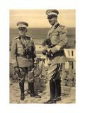 Ak S.M. Il Re Imperatore Col Principe Umberto II. Di Piemonte, Marineoffiziere Photographic Print