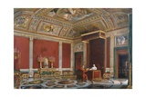 Pius IX in the Papal Audience Hall at the Quirinale Giclee Print