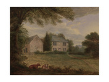 Thomas Wilkinson's House at Yanwath, C.1822-29 Giclee Print by Jacob Thompson
