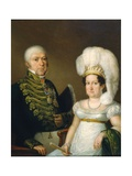 Portrait of a General and His Wife Giclee Print by Angelica Kauffmann