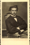 Ak König Ludwig II. Von Bayern in Anzug Mit Fliege Photographic Print