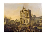Pope Gregory Xvi's Visit to the Church of San Gregorio Al Celio, C.1831-47 Giclee Print by Lorenzo Scarabellotto