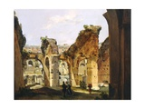 Entrance to the Colosseum and the Old Via Crucis Giclee Print by Ippolito Caffi