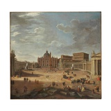 View of St. Peter's Square, Rome Reproduction procédé giclée par Giovanni Paolo Pannini