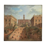 View of the Campidoglio, Rome, 1750 Reproduction procédé giclée par Giovanni Paolo Pannini
