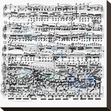 Music Sheet II Stretched Canvas Print