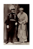 Ak King George V and Queen Mary, Maria Von Teck, England Photographic Print