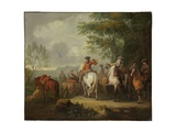 Cavaliers Setting Off on a Journey Giclée-Druck von Pieter van Bloemen