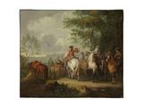 Cavaliers Setting Off on a Journey Giclée-Druck von Pieter van Bloemen