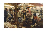 Old Fish Market in Venice Giclee Print by Ettore Tito