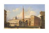 Piazza Del Quirinale, 1847 Giclee Print by Ippolito Caffi