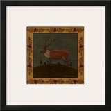 Folk Elk Print by Warren Kimble