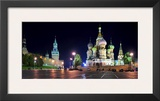 Red Square at night, Moscow Prints by Vadim Ratsenskiy