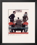 Art Deco Cupid Cars Poster