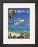 Cruise St. Thomas Framed Giclee Print by Kem Mcnair