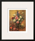 Roses in a Blue Vase Print by Albert Williams