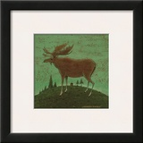 Folk Moose Posters by Warren Kimble