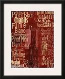 Wine Classics Art by Lisa Wolk