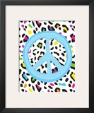 Leopard Peace Posters by Louise Carey