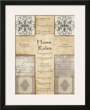 Home Rules Cross Prints by Lisa Wolk