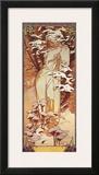 Hiver, 1900 Prints by Alphonse Mucha