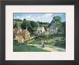 L'Hermitage at Pontoise, c.1867 Prints by Camille Pissarro