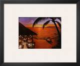 Tahitian Sunset Poster by David Marrocco