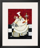 Crimson Chef II Poster by Jennifer Garant