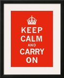 Keep Calm and Carry On II Prints