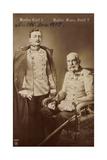 Ak Kaiser Carl I., Kaiser Franz Josef I., Npg 6040, Schwert Photographic Print