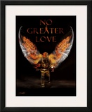 No Greater Love Fireman Poster by Jason Bullard