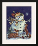 Jolly Snowman Art by Donna Race