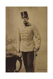 Ak Kaiser Franz Josef I., Standportrait, Uniform, Hochhut, Säbel Reproduction photographique