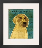Yellow Labradoodle Framed Giclee Print by John Golden